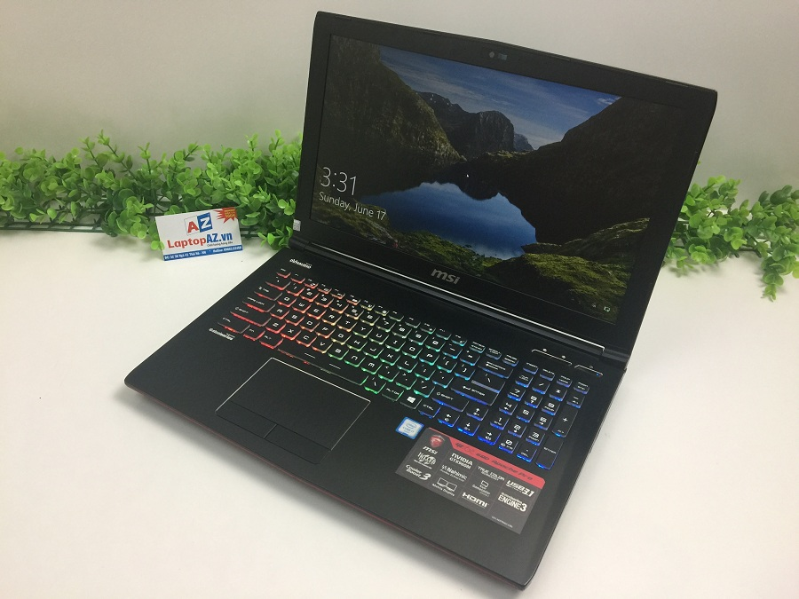 Laptop MSI GE62 6QD-1297XVN (Core i7-6700HQ, RAM 8GB, HDD 1TB + SSD 128GB, VGA 2GB  NVIDIA GeForce GTX 960M, 15.6 inch full HD)