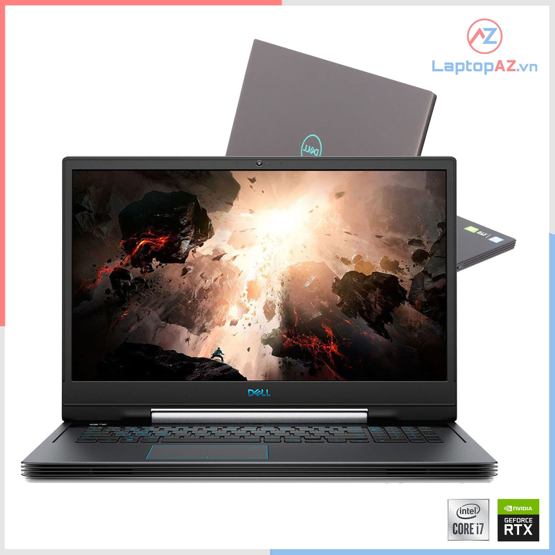 [Mới 99%] Dell Gaming G7 7790 (Core i7-9750H, 16GB, 1TB + 256GB, RTX 2060, 17.3 FHD IPS