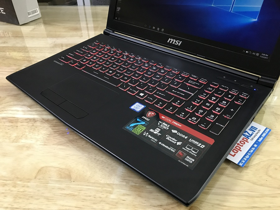 Laptop MSI GL62M 7RDX (Core i5-7300HQ, RAM 4GB, HDD 1TB, VGA 2GB  NVIDIA GeForce GTX 1050, 15.6 inch Full HD)